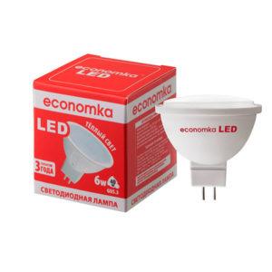 Лампа світлод.Экономка LED MR16 6W GU5.3-28