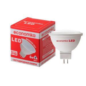 Лампа світлод.Экономка LED MR16 6W GU5.3-42