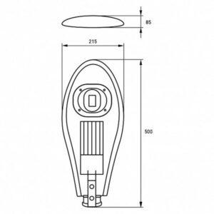 LED Светильник уличный классический COB 50W 6000K