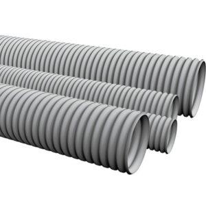 Труба гофрована сіра легка типу ТГП-ЕТ 32/40