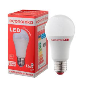 Лампа светодиодная LED А60 12W E27-4200 Economka