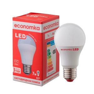 Лампа светодиодная Экономка LED А60 7W E27-28