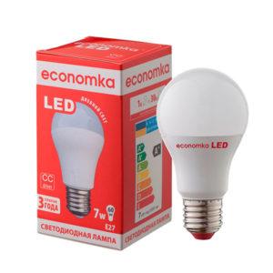 Лампа світлодіодна  Экономка LED А60 7W E27-42