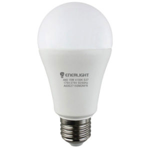 Лампа светодиодная А60 15 Вт 4100К Е 27 ENERLIGHT
