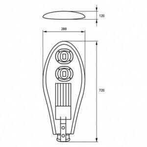 LED Светильник уличный классический COB 100W 6000K